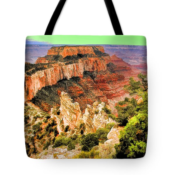 Wotan's Throne Tote Bag by Dennis Cox WorldViews