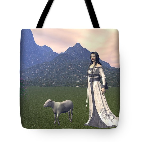 Year Of The Sheep Tote Bag by Michele Wilson