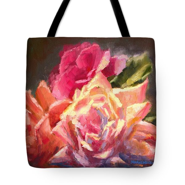 Yellow And Pink Roses Tote Bag