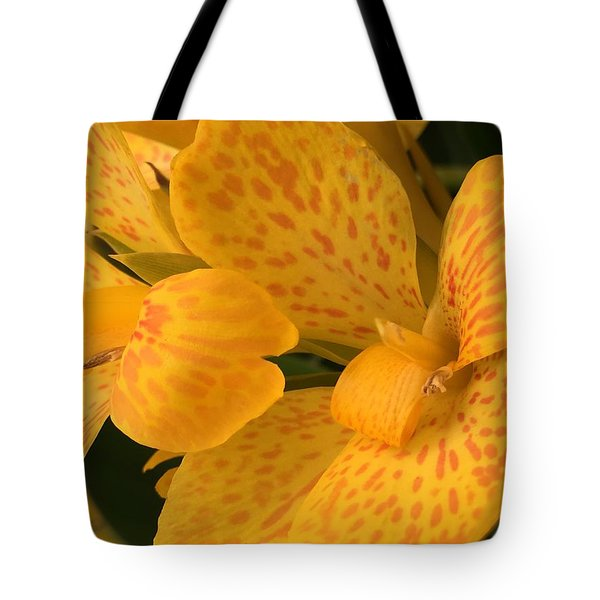 Yellow Lily Tote Bag by Kay Gilley