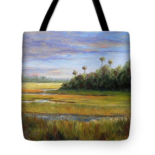Yellow Marsh Tote Bag by Beth Maddox