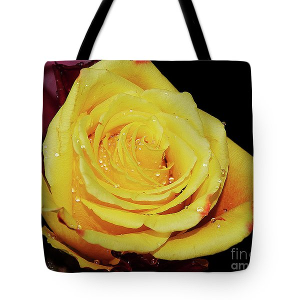 Tote Bag featuring the photograph Yellow Rose by Elvira Ladocki
