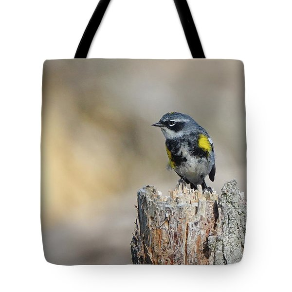 Yellow Rumped Warbler Tote Bag