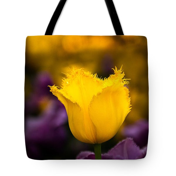 Tote Bag featuring the photograph Yellow Tulip by Jay Stockhaus