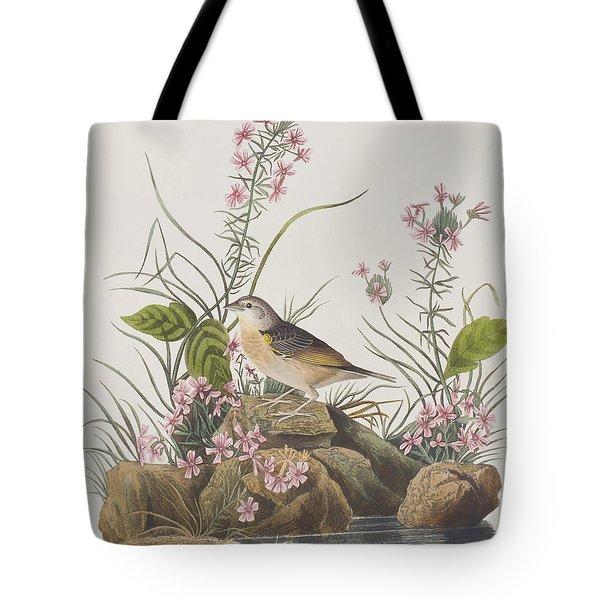 Yellow-winged Sparrow Tote Bag by John James Audubon