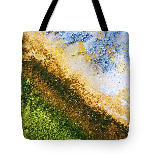Yellowstone Abstract Tote Bag