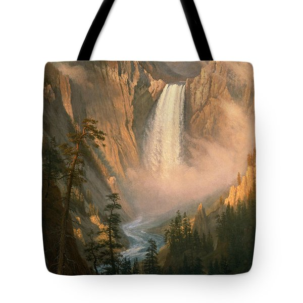 Yellowstone Falls Tote Bag