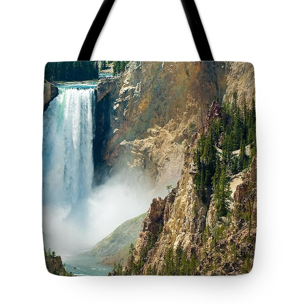Yellowstone Waterfalls Tote Bag by Sebastian Musial