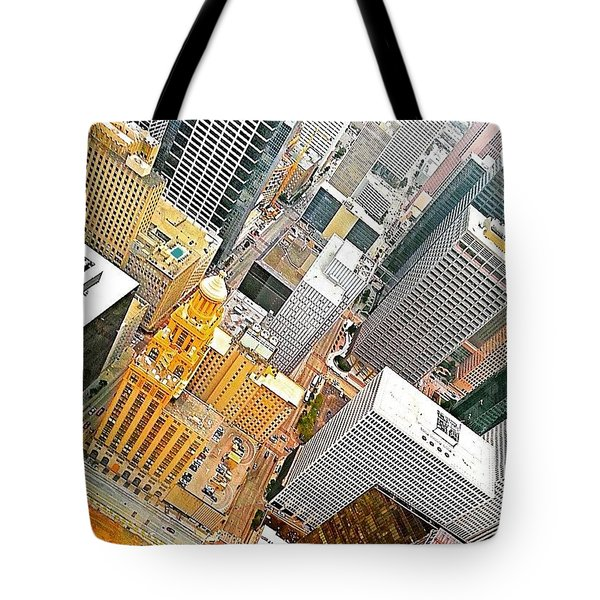 Yesterday's #birdseyeview Of #downtown Tote Bag