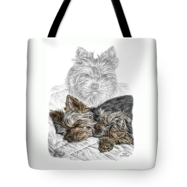 Yorkie - Yorkshire Terrier Dog Print Tote Bag