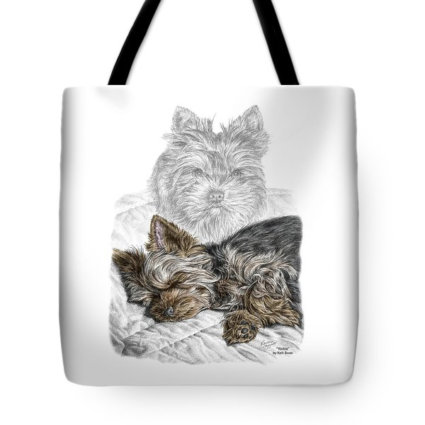 Yorkie - Yorkshire Terrier Dog Print Tote Bag