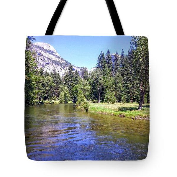 Yosemite Lazy River Tote Bag