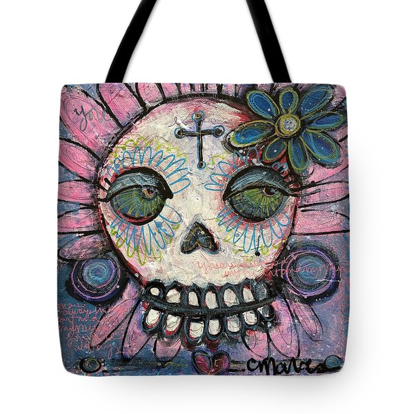 Tote Bag featuring the painting You Are Always In My Heart by Laurie Maves ART