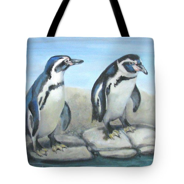 Tote Bag featuring the painting You First by Oz Freedgood