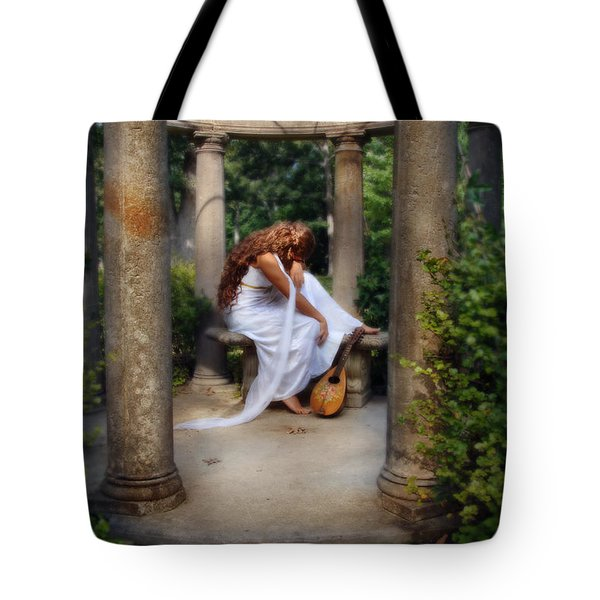 Young Woman As A Classical Woman Of Ancient Egypt Rome Or Greece Tote Bag by Jill Battaglia
