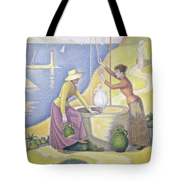 Young Women Of Provence At The Well, 1892 Tote Bag