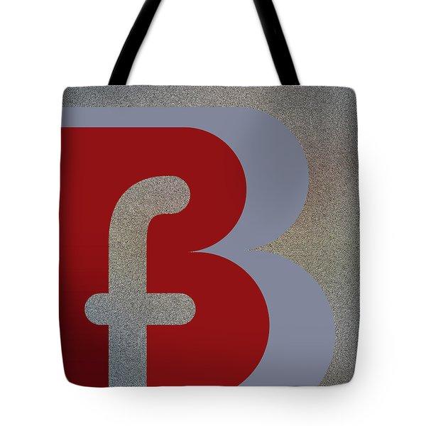 Your Name - B F Or F B Monogram Tote Bag