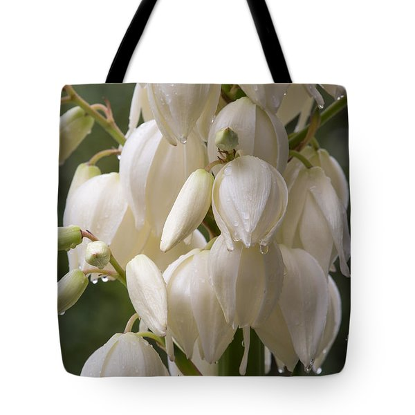 Yucca Plant In Bloom Tote Bag