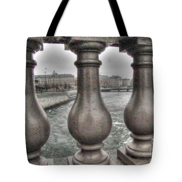 Tote Bag featuring the pyrography Yury Bashkin Across by Yury Bashkin