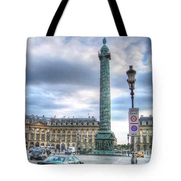 Tote Bag featuring the pyrography Yury Bashkin Paris Street by Yury Bashkin