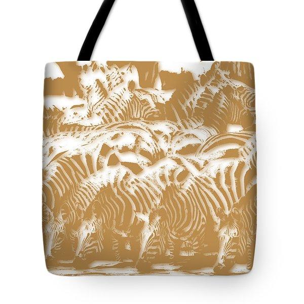 Zebra 3 Tote Bag