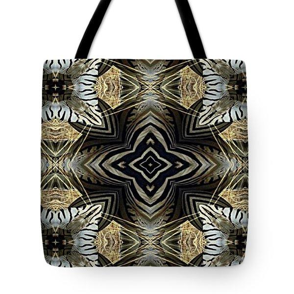 Zebra V Tote Bag by Maria Watt
