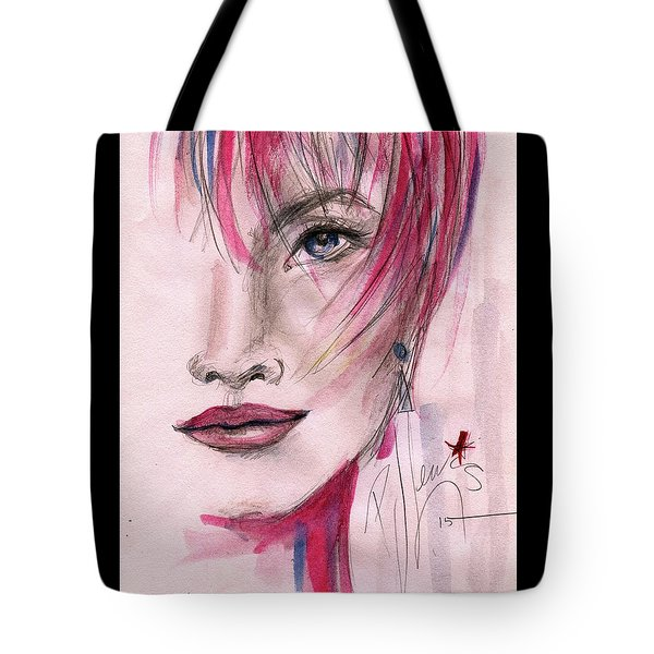 Tote Bag featuring the painting Zelda by P J Lewis