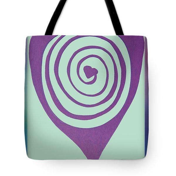 Zen Heart Labyrinth Path Tote Bag