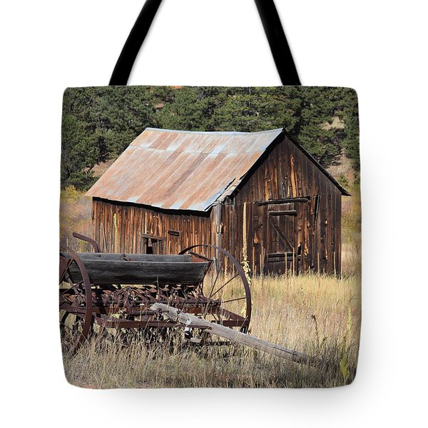Tote Bag featuring the photograph Seed Tiller - Barn Westcliffe Co by Margarethe Binkley