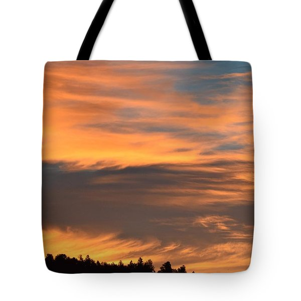 Tote Bag featuring the photograph Sunrise Ridge Cr511 by Margarethe Binkley