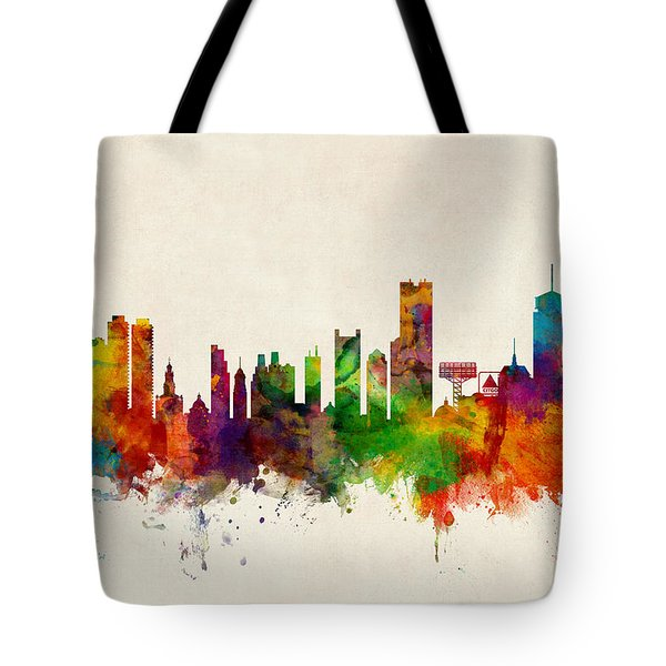 Boston Massachusetts Skyline Tote Bag by Michael Tompsett