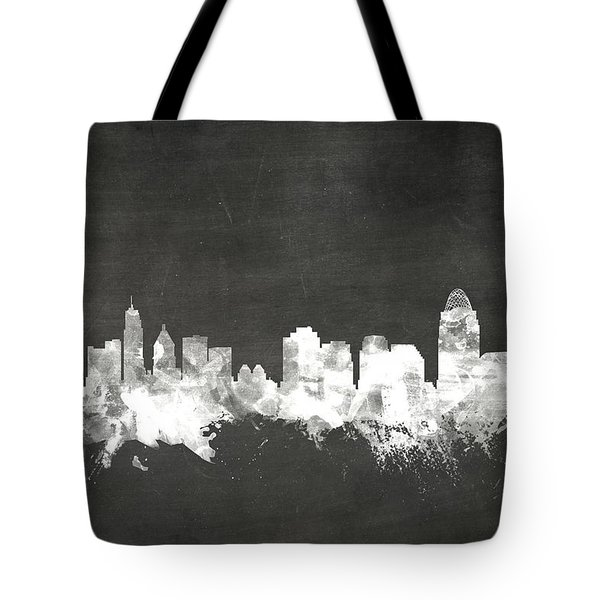 Cincinnati Ohio Skyline Tote Bag
