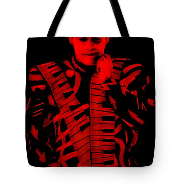 Elton John Collection Tote Bag by Marvin Blaine