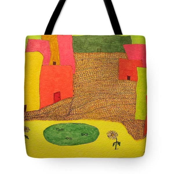 10 Flat Buildings With Fish Pool Tote Bag