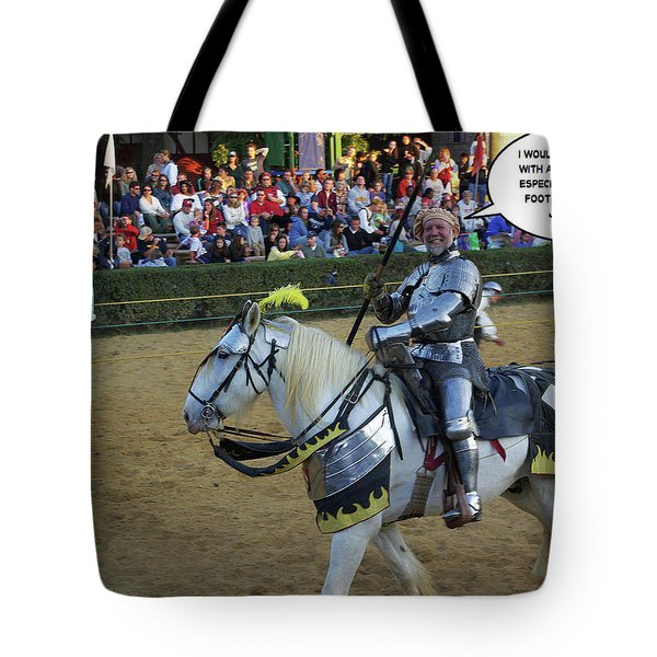 10 Foot Pole Tote Bag by Brian Wallace