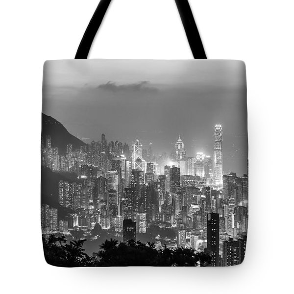 Hong Kong Skyline Tote Bag