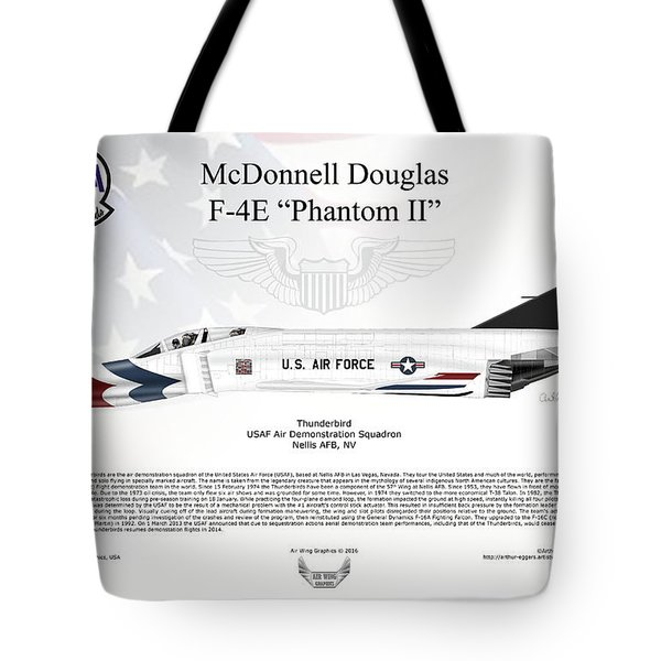 Mcdonnell Douglas F-4e Phantom II Thunderbird Tote Bag