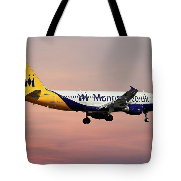 Monarch Airlines Airbus A320-214 Tote Bag