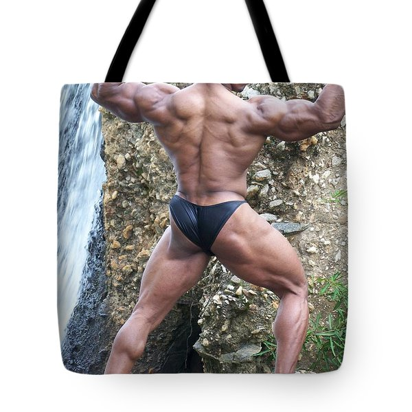 Muscle Art America Tote Bag by Jake Hartz