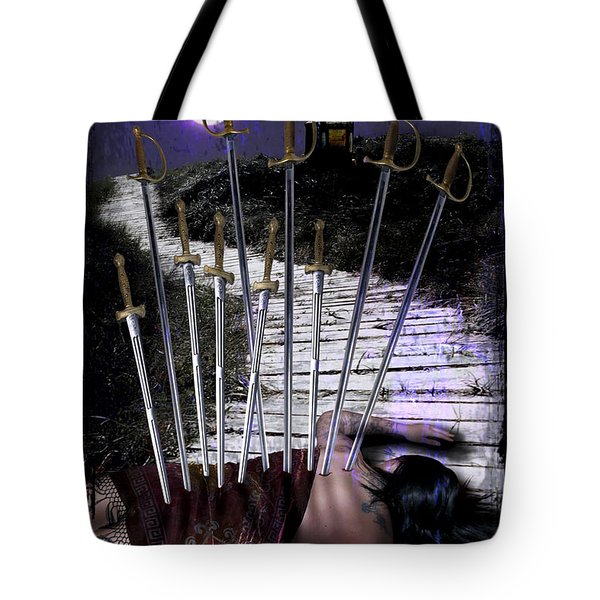 10 Of Swords Tote Bag