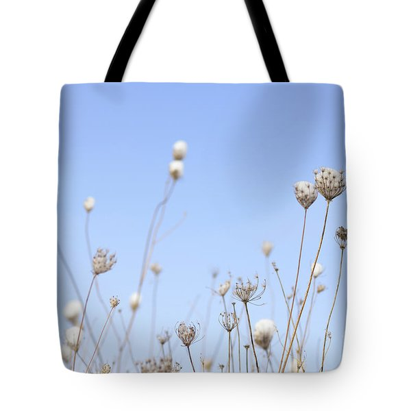 Snow Covered Queen Anne's Lace Tote Bag