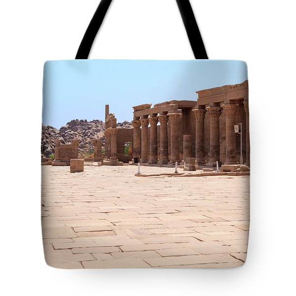 Tote Bag featuring the photograph Temple Of Isis by Silvia Bruno