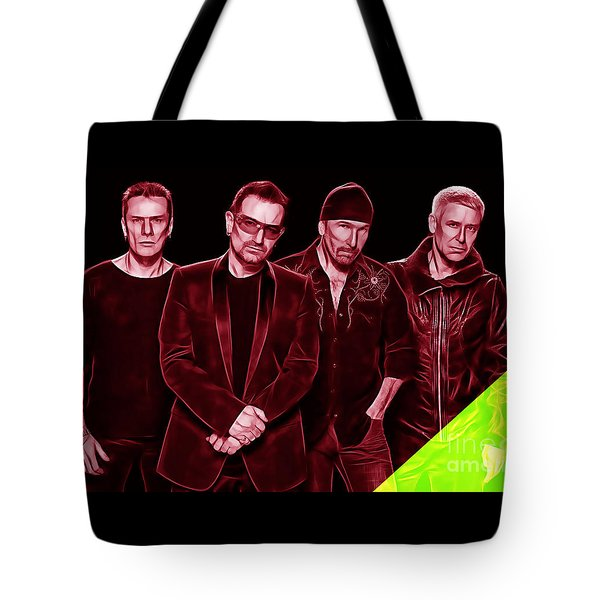 U2 Collection Tote Bag by Marvin Blaine