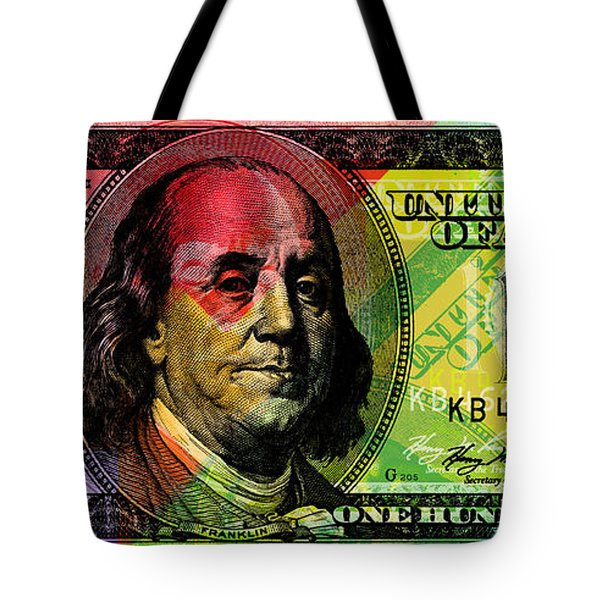 Benjamin Franklin - Full Size $100 Bank Note Tote Bag