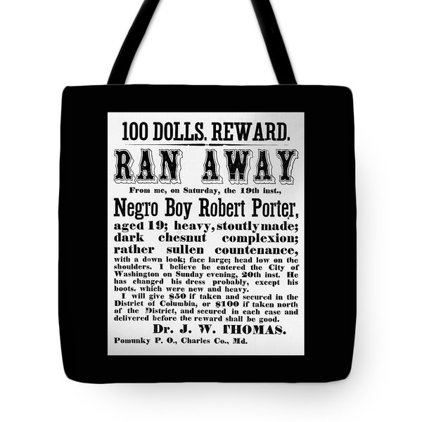 100 Dolls. Reward Ran Away Tote Bag