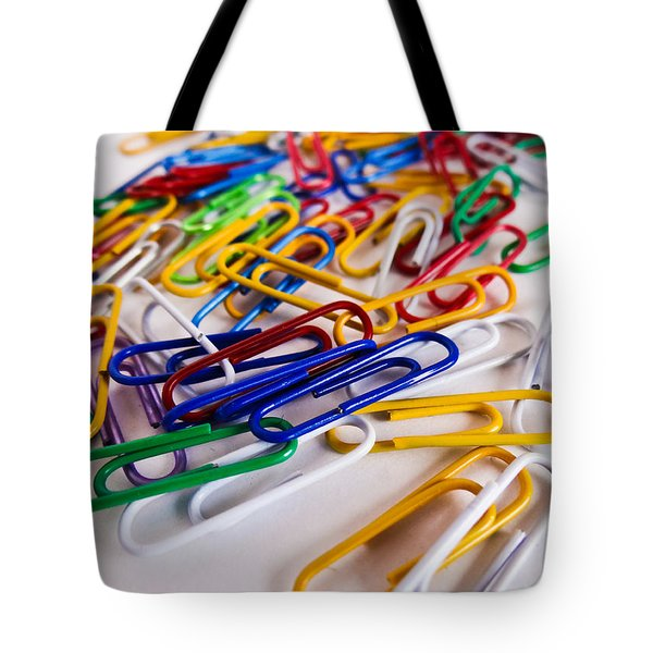 100 Paperclips Tote Bag by Julia Wilcox