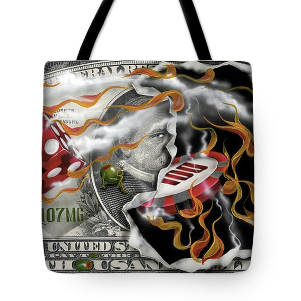 $1000 Bill Winning Big Tote Bag