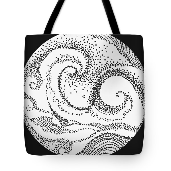 Tote Bag featuring the painting #1002 Sea And Shore by Kym Nicolas