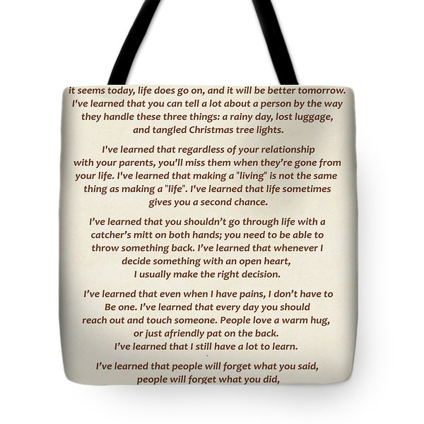 101-  Maya Angelou Tote Bag by Joseph Keane
