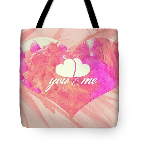 10183 You And Me Tote Bag